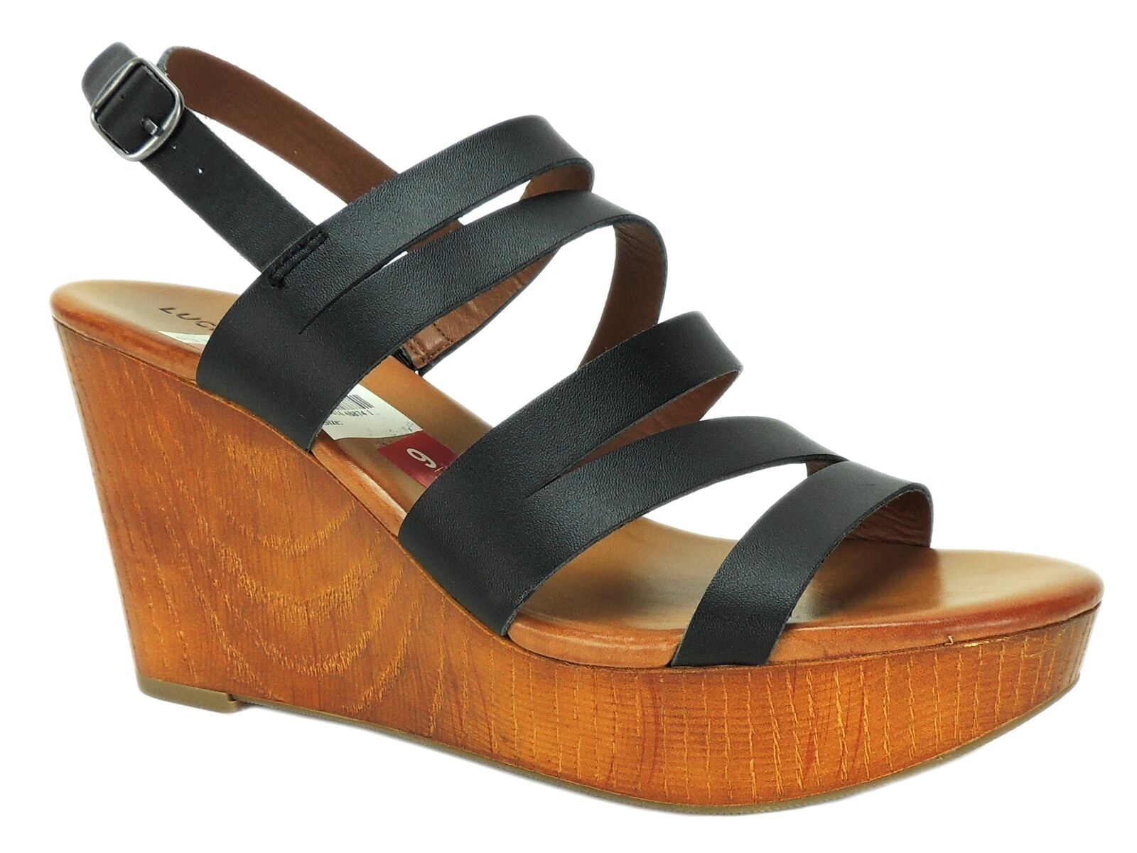 Lucky Brand Donna    Marinaa Wedge Sandals nero Leather Dimensione 9 M 971882
