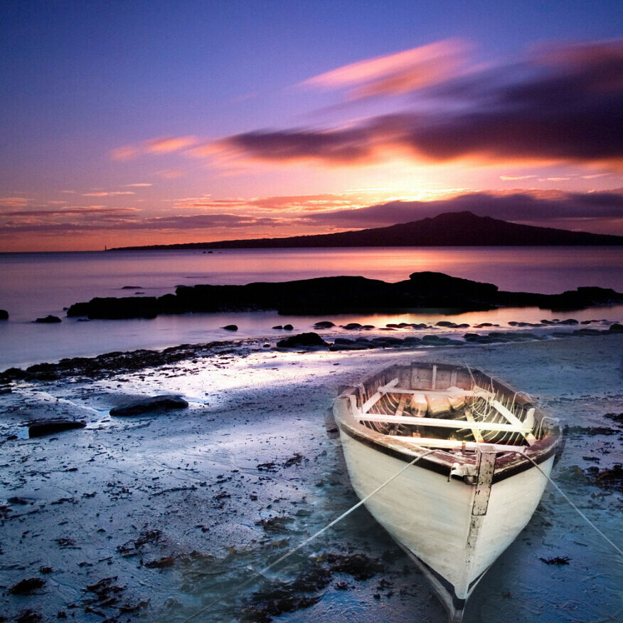 3D Beach Sunset Boat 29 Wall Paper Wall Print Decal Wall Deco Wall Indoor Murals