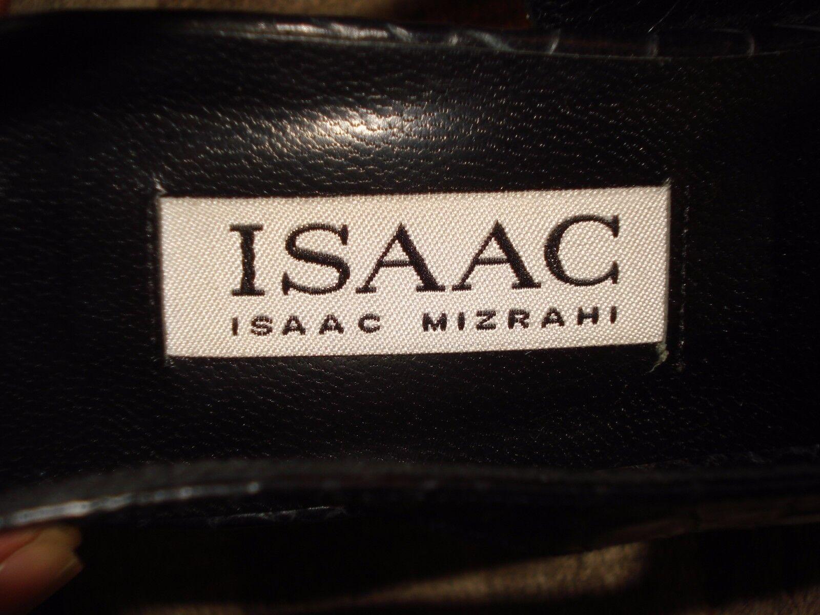 Isaac Mizrahi Italy Nero Pelle Faux-Croc Kitten Kitten Kitten Heel Slingback Sz. 6M MINTY! ff4c8f