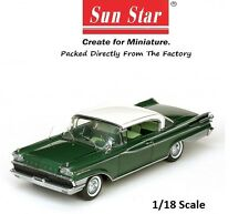 MERCURY PARK LANE HARD TOP WHITE/GREEN 1959.  1/18 PLATINUM EDITION SUNSTAR 5164