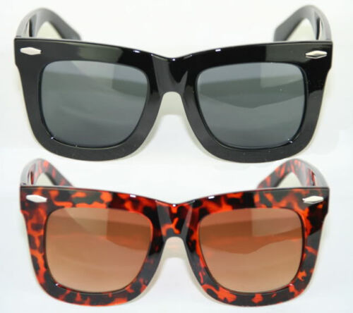 Retro Sonnenbrille dicker Rahmen 80er Jahre Unisex schwarz braun rot 226