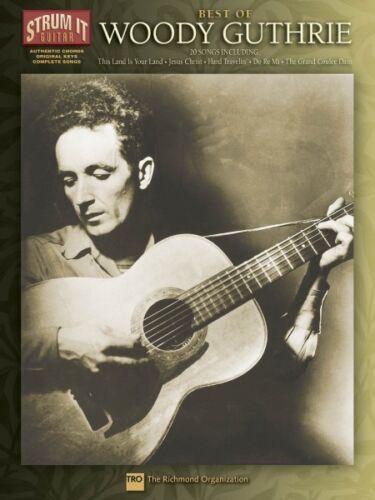 Best of Woody Guthrie Sheet Music Strum It Guitar NEW 000699496