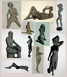 140-pcs-3d-STL-models-statues-Girls-mega-collection-for-CNC-3d-print-4-axis