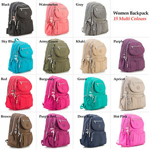 5bfeee308f5c Details about School Backpack for Teenage Girls Backpacks Women Solid Nylon  Casual Laptop Bag