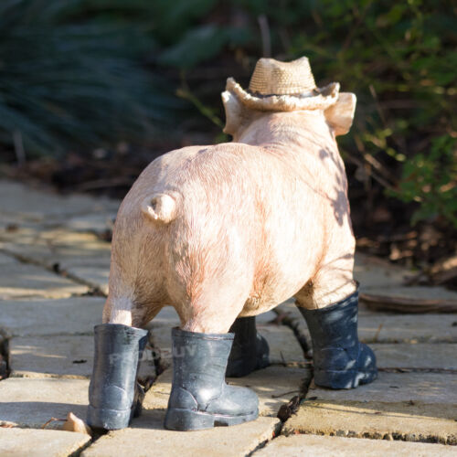 Large Standing Pig Ornament Figure Sculpture Statue Home Object Novelty Gift