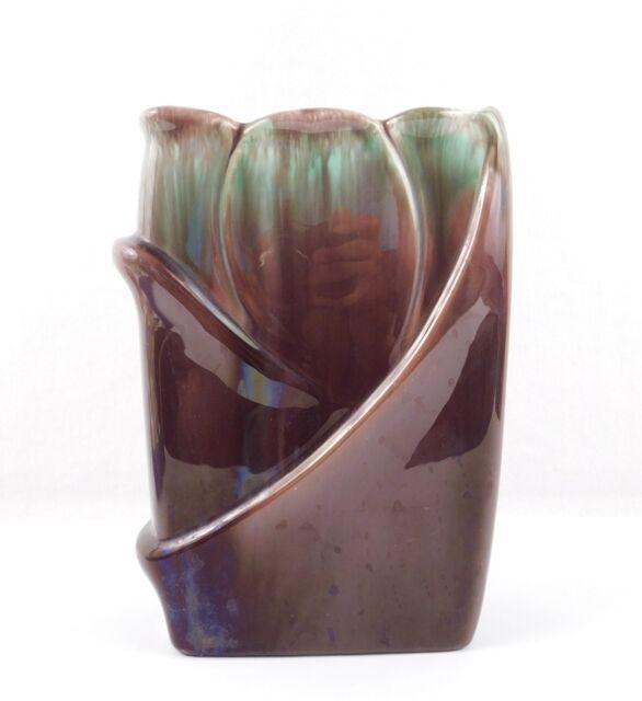 Vintage Mcm Green Brown Royal Haeger Vase R651 Ebay