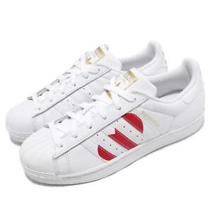 af15a2b33019 Image is loading adidas-Originals-Superstar-White-Red-Heart-Valentines-Day-