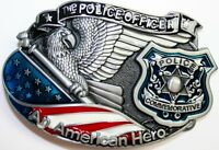 Belt Buckle Replacement Latch American Hero Police Officer Usa Flag Department