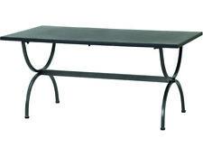 Gartentisch Metalltisch Esstisch Gartenmöbel Tisch ROMA 90x160cm braun beige