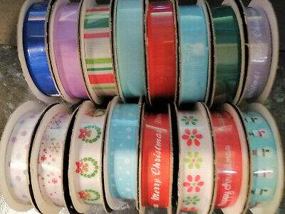 1 reel Dovecraft Blooming Lovely Grosgrain Ribbon choice of design