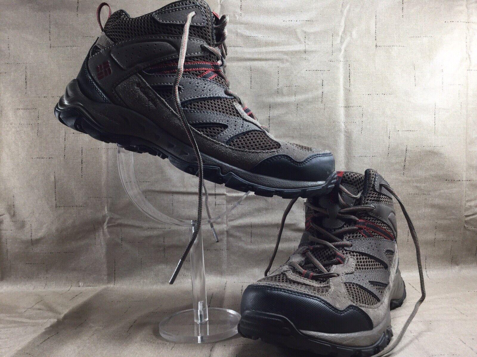 Men's Columbia Plains Ridge Brown Mid Hiking shoes BM3982-230 size 9 [SB06]