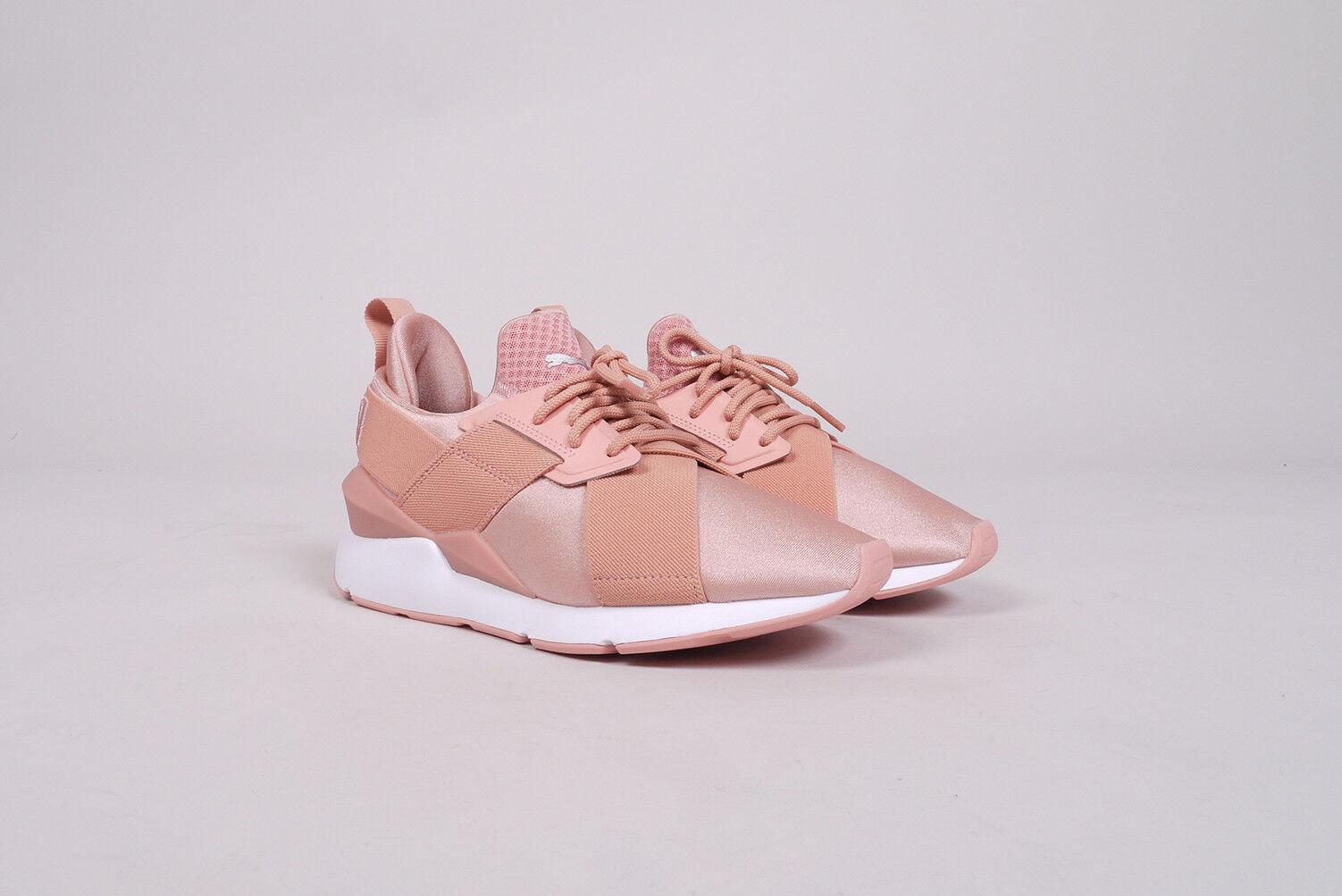 PUMA Muse Sneaker X Strap SATIN PE Sneaker Muse Donna UE 40,5 US 9,5 Nuovo Scarpe Peach Creeper 942b97
