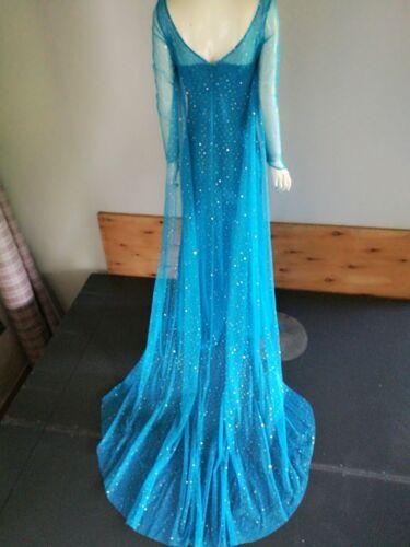 Costume Elsa Frozen vestito carnevale completo adulti abito principessa donna