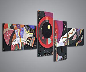 Quadri moderni kandinsky viii quadro moderno 160x70 cm for Stampe d arredo