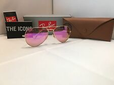 Ray Ban Pink Rose RB 3025 Aviator Sunglasses  Gold Frame 58mm