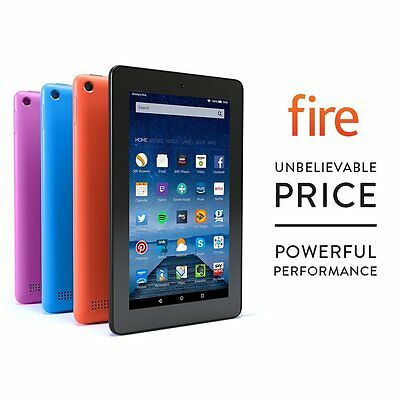 "Amazon Kindle Fire 7"" Inch (8GB) Tablet - Quad Core IPS HD Wi-Fi 2x Camera"