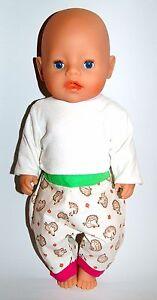 Hose Baby Born Puppe Interaktive Motiv Igel Neu Unikat Handarbeit Für Z.b