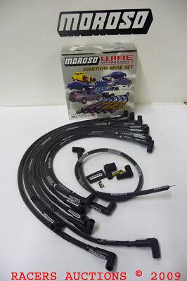 Small Block Chevy 327 350 400 HEI Black Racing Spark Plug Wires Moroso 73707