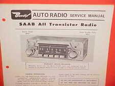 1966 SAAB 95 WAGON 96 850 MONTE CARLO SPORT SEDAN BENDIX AM RADIO SERVICE MANUAL