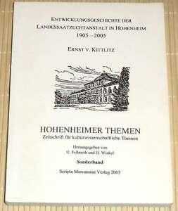 HOHENHEIMER-THEMEN-Sonderband-Entwicklungsgeschichte-d-Landessaatzuchtanstalt