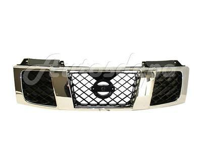 For 04-07 Titan Le Se / 04-07 Armada Le Grille Chrome Frame With Black Inserts