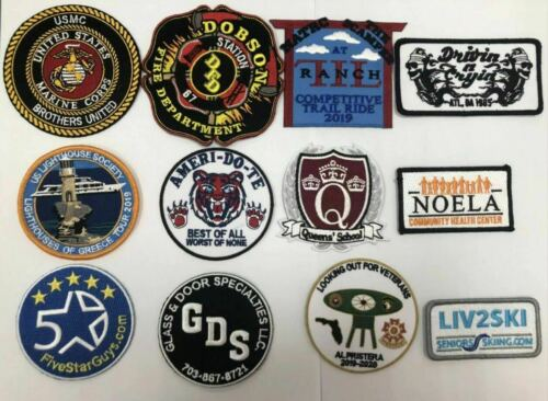 Custom Embroidered Logo Name Patches Iron on Customized Emblems Design Badges