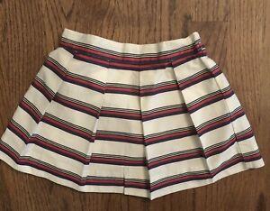 Janie & Jack Winter Cheer Striped Skirt Baby Girl Size 6-12m Elastic Waist Euc Skirts