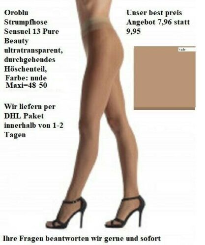 maxi = 48-50 nude Oroblu Collant sensuel 13 Pure Beauty ultratransparent