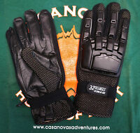 Gloves: 32 Degrees Black Full Padded Finger Paintball Xl, On Closeout Sale