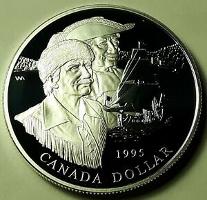 1995 CANADA LOONIE PROOF ONE DOLLAR HEAVY CAMEO COIN