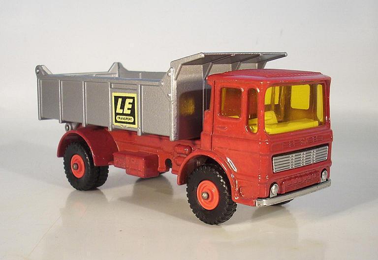 Matchbox Matchbox Matchbox Kingsize K-4c Leyland Tipper LKW Kipper LE Transport red silver 49a6d4