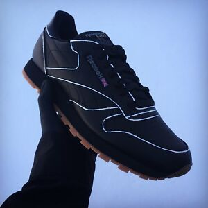 Custom Reebok Leather Classic Hommes Chaussures Black 7n7qYv0r