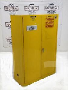 Justrite 25450 45 Gallon 3 Shelves Flammable Storage ...
