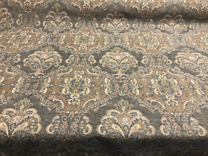 Details About Abia Damask Twine Antique Upholstery Fabric By The Yard Sofa Chair