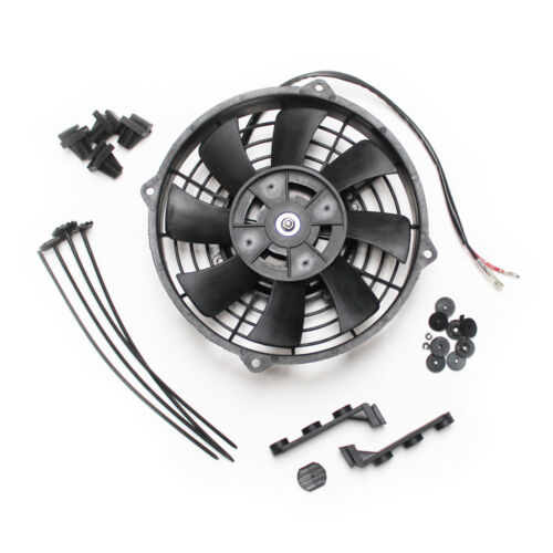 """8/"""" 12v Pull Type Radiator Cooling Fan With Straight Blades Mounting Kit"""
