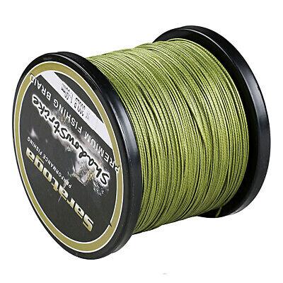 8 Strands 1000M Army Green Power PE Line Dyneema Saratoga Braided Fishing Line