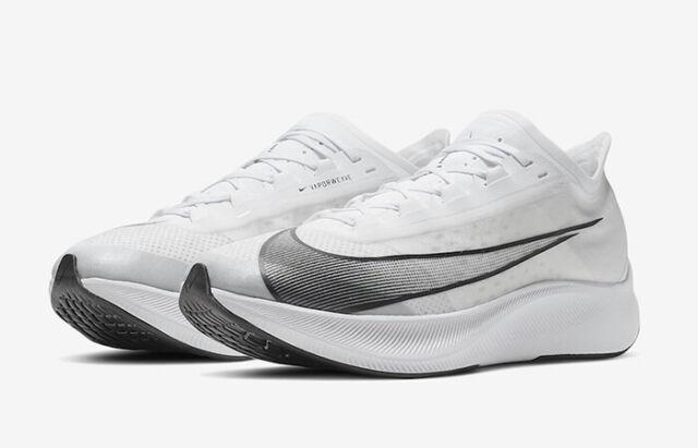 Nike Zoom Fly 3 Laufschuhe UK 7.5 & 9.5 weißschwarz (at8240 100)