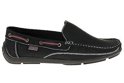 Mokassins Kinder Herren Sommer Slipper Boots Schuhe Superoktik Schwarz 50%%50%%%