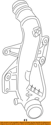 AUDI OEM 10-17 A5 Quattro 2.0L-L4 Intercooler-Pressure Pipe 8K0145673AJ