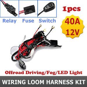 Image is loading UNIVERSAL-WIRING-LOOM-HARNESS-KIT-LED-FOG-LIGHT-  sc 1 st  eBay : universal wiring loom - yogabreezes.com