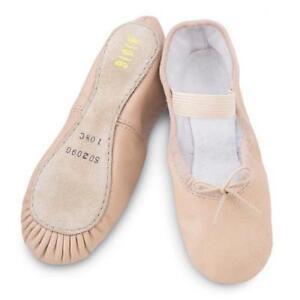 Bloch 209 surgen Completo Suela Rosa Cuero Zapatos De Ballet Danza Talla 12.5