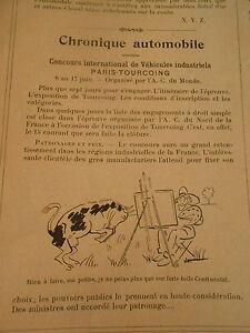 Chronique Automobile Bidendum Chaleurs Targa-florio Print Humour 1906 Hxxvcp7r-07181442-224025832