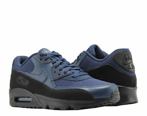 Details about Nike Air Max 90 Essential Sneakers Black Midnight Navy Blue Trainers AJ1285 007