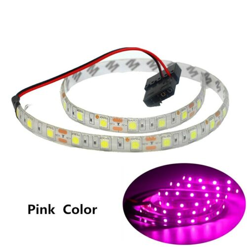 1//2m RGB led Strip light pc case 12V Background PC Computer Molex Connector 4Pin