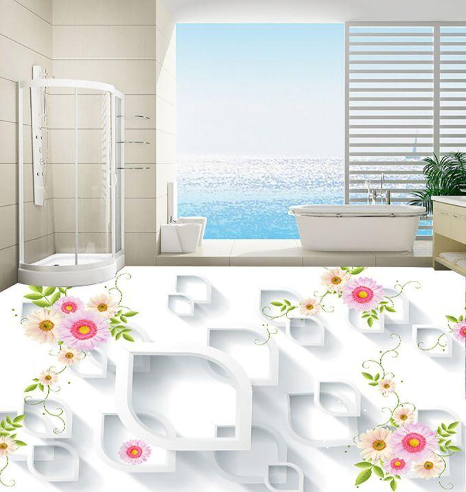 3D Fiori E Grafica 233 Pavimento Foto Wallpaper Murales Muro Stampa Decalcomania