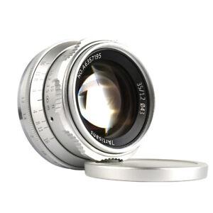 REAL-EU-SHIP-SILVER-7Artisans-35mm-f-1-2-manual-lens-Micro4-3-mount-M4-3-MFT