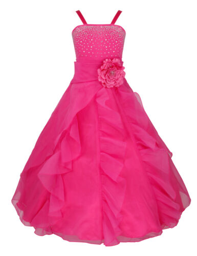 Flower Girl Dress Pageant Wedding Communion Gown Prom Party Formal Kids Dresses