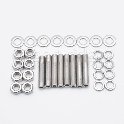 8pcs M8x40 STAINLESS STEEL Exhaust Manifold Studs Nuts Washers Replacement Kit