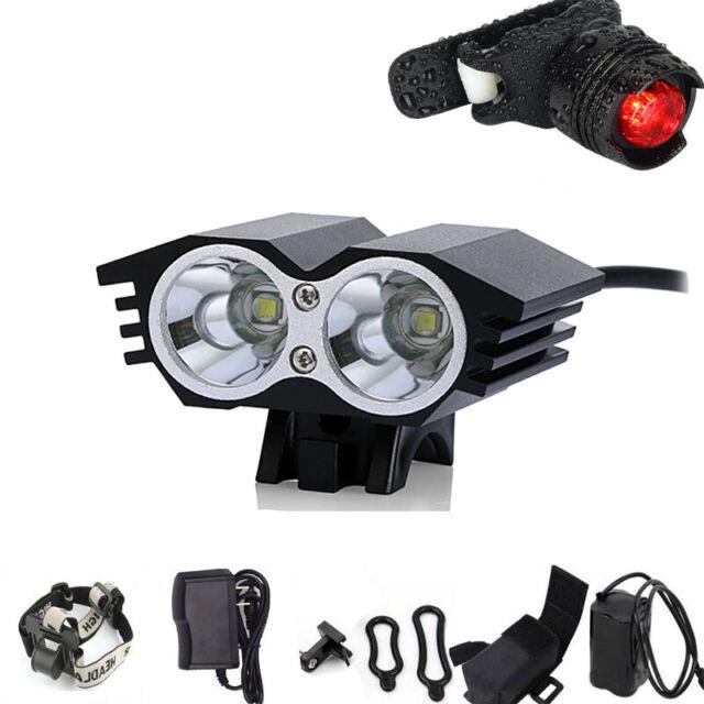 8.4V Durable IP65 Bike Light XM-L U2 LED Cycling Front Headlight Outdoor Camping