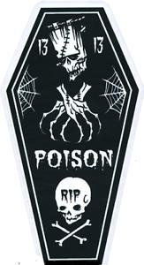 Poison-Coffin-13-STICKER-Decal-Frankenstein-Skull-Cross-Bones-Eric-Pigors-PG65